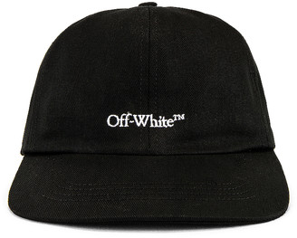 Off-White Bookish OW Basic Baseball Cap in Black & White | FWRD