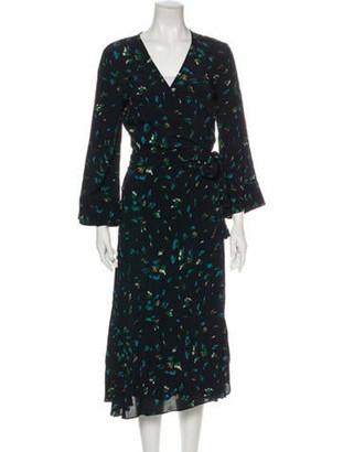 Ganni Floral Print Long Dress w/ Tags Black