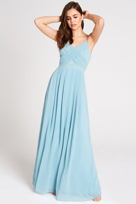 Girls On Film Outlet Endlessly Sage Chiffon Maxi Dress