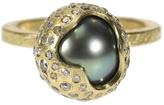 Todd Reed Handmade Tahitian Pearl and White Diamond Ring