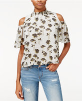 Rachel Roy Printed Cold-Shoulder Top, Only at Macy's