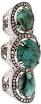 Hellmuth Emerald & Diamond Finger Ring