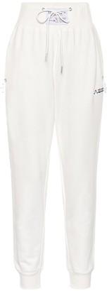 Adam Selman Sport High-rise cotton-blend trackpants