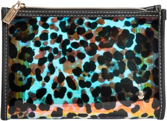 Stephanie Johnson Miami Cheetah Holographic Medium Makeup Bag