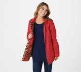 Isaac Mizrahi Live! Zip Front Quilted Jacket with Leopard Printed Lining