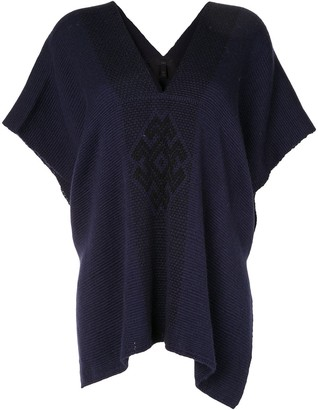 Voz Arana knitted poncho