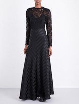 Ganni Kendal silk and lace gown