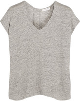 Rag & Bone Malibu Slub Linen T-shirt - Light gray
