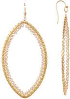 Chan Luu Bead & Wire Teardrop Hoop Earrings