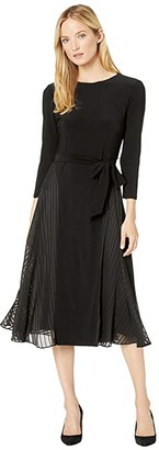 Lauren Ralph Lauren Jadel 3/4 Sleeve Day Dress (Black) Women's Clothing
