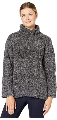 True Grit Dylan by Faux-Shearling Pile Drop Shoulder 1/4 Zip Pullover with Soft Knit Lining