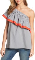 Vince Camuto Ruffle One-Shoulder Blouse (Regular & Petite)