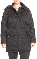 Vince Camuto Plus Size Women's Detachable Hood Quilted Anorak
