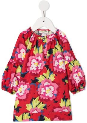 Kenzo Kids Floral Long-Sleeve Dress