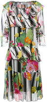 Blugirl floral print ruffled dress - women - Silk - 42