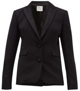Hillier Bartley Barathea Wool-blend Tuxedo Jacket - Womens - Black