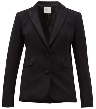 Hillier Bartley Barathea Wool-blend Tuxedo Jacket - Black