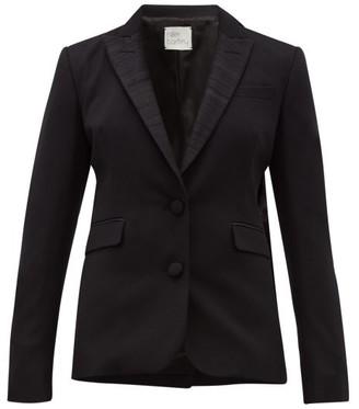 Hillier Bartley Barathea Wool Blend Tuxedo Jacket - Womens - Black