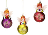"Mark Roberts Angelic 5.5"" Ball Ornaments - Set of 3"