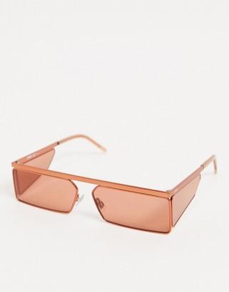 HUGO BOSS geometric sunglasses in matte orange