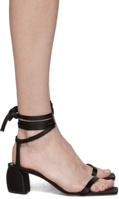 Tibi Black Satin Shyah Sandals