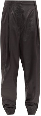 Tibi Liquid Drape Pleated Trousers - Black