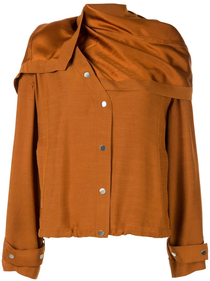 3.1 Phillip Lim Removable Scarf Jacket