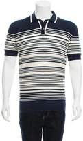 Orley Striped Wool Polo Shirt w/ Tags