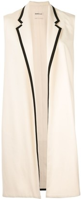 Hermes Pre-Owned Cashmere Sleeveless Midi Jacket