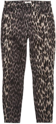 L'Agence Margot High Rise Leopard Skinny Jeans