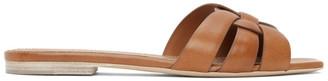 Saint Laurent Brown Tribute Sandals
