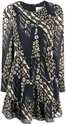 BA&SH Ophe mixed-print dress