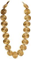 One Kings Lane Vintage YSL Oversize Gold Necklace & Belt