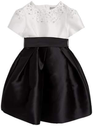 Il Gufo Embellished Belted Satin dress