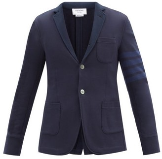 Thom Browne Single-breasted Cotton Sports Blazer - Navy