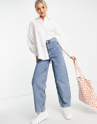 New Look poplin shirt in white