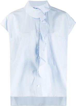 Barena Ruffled Trim Buttoned Shirt