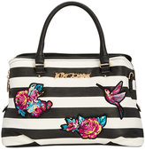 Betsey Johnson Large Embroidered Satchel