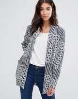 B.young Tapestry Print Long Blazer