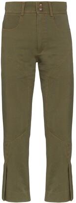 Delada Slim-Leg Panelled Trousers