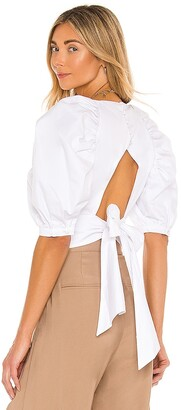 Bardot Puff Sleeve Top