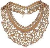 Fabric cut-out collar necklace
