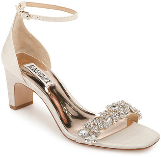 Badgley Mischka Jackie Low-Heel Sandals