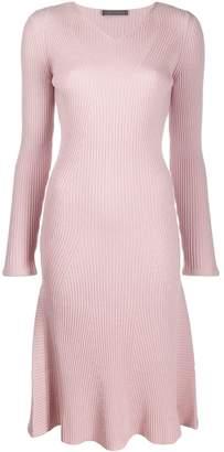 Alberta Ferretti V-neck sweater dress