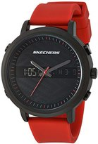 Skechers Men's Quartz Metal and Silicone Casual Watch, Color:Red (Model: SR5073)