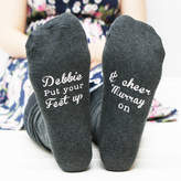 Wimbledon Sparks Clothing Personalised Women's Put Your Feet Up Socks