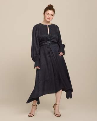 Jonathan Simkhai Silk Leopard Front Twist Dress