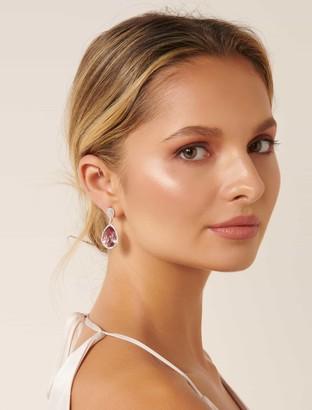 Forever New Rachel Jewelled Earrings - Purple - 00