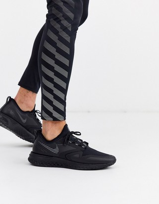 Nike Running Odyssey React 2 Shield sneakers in black