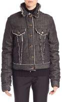 Acne Studios Raw-Edge Denim Jacket